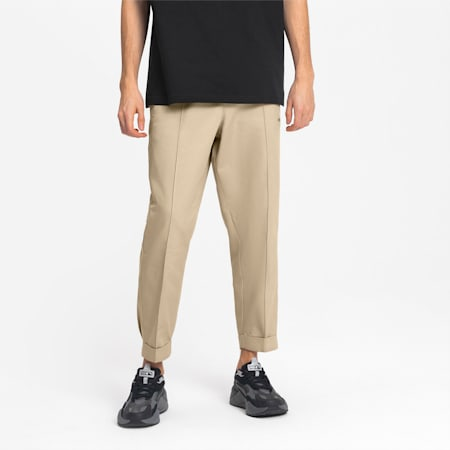 Woven Men's Chino Pants, Pale Khaki, small