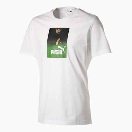 RETRO AD GRAPHIC Tシャツ 半袖, Puma White, small-JPN