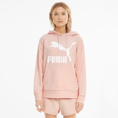 Felpa con cappuccio e logo Classics donna, Cloud Pink, small