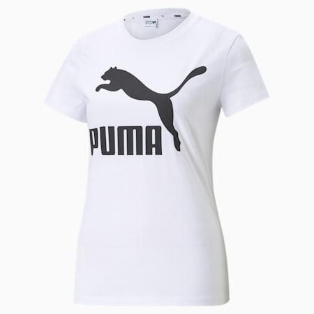 Classics Logo Women's Tee, Puma White, small-GBR