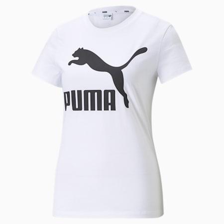 Classics Logo Women's Tee, Puma White, small-SEA