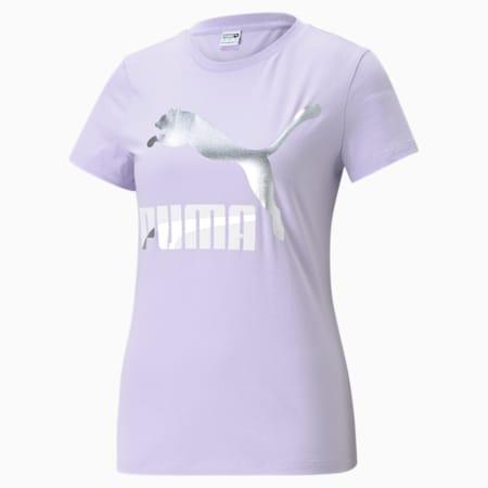 Classics Logo Women's Tee, Light Lavender-metallic, small-GBR