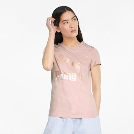 Classics Logo Damen T-Shirt, Lotus-Pearl, small