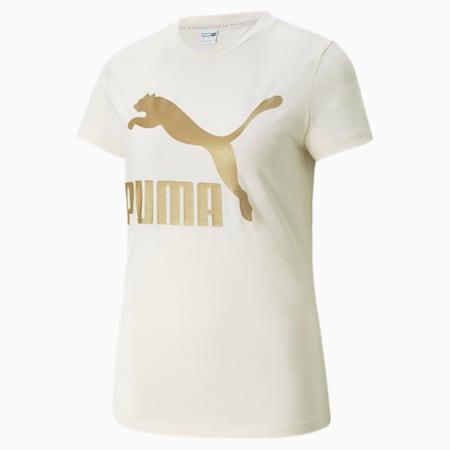 T-shirt Classics Logo, femme, Lueur ivoire-or, petit