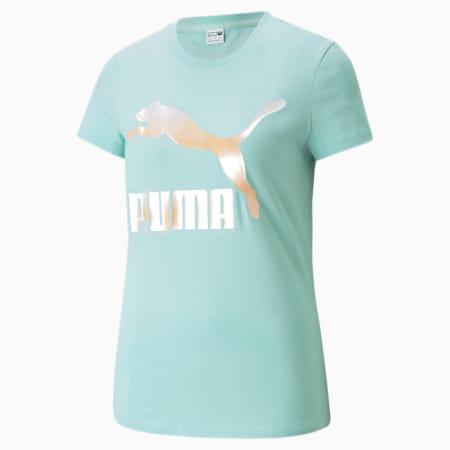CLASSICS LOGO Tシャツ ウィメンズ, Eggshell Blue-Gloaming, small-JPN