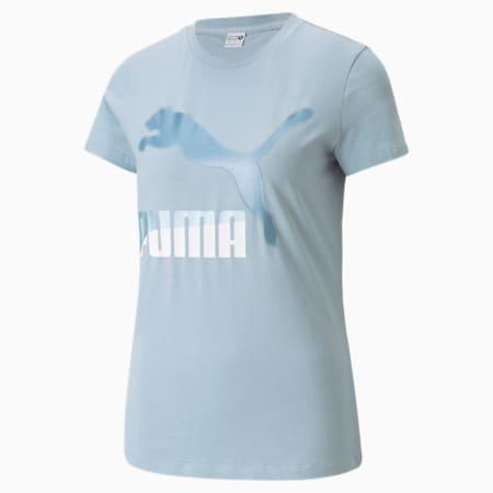 Camiseta Classics Logo para mujer, Blue Fog, pequeño