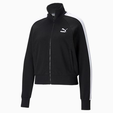 Iconic T7 Women's Track Jacket, Puma Black, small-GBR
