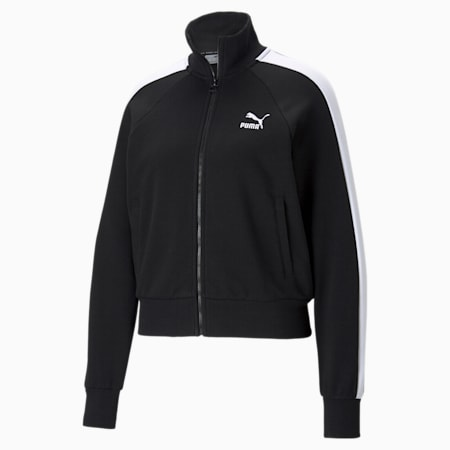 Iconic T7 Women's Track Relaxed Jacket, Puma Black, small-IND
