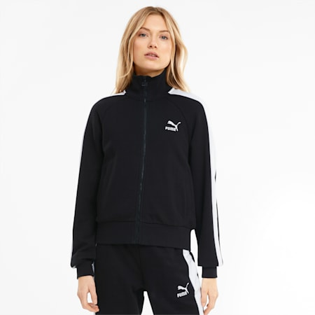 Iconic T7 Women's Track Jacket, Puma Black, small