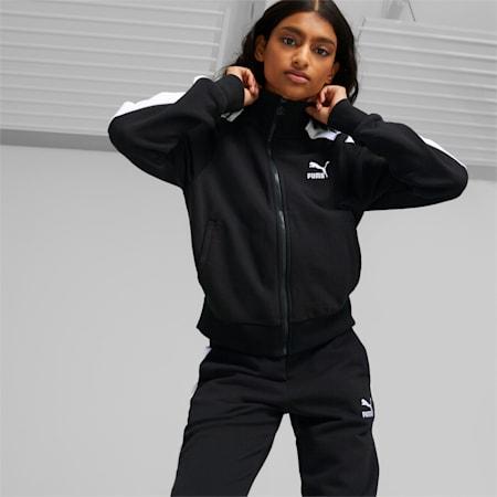 Veste de survêtement Iconic T7 femme, Puma Black, small