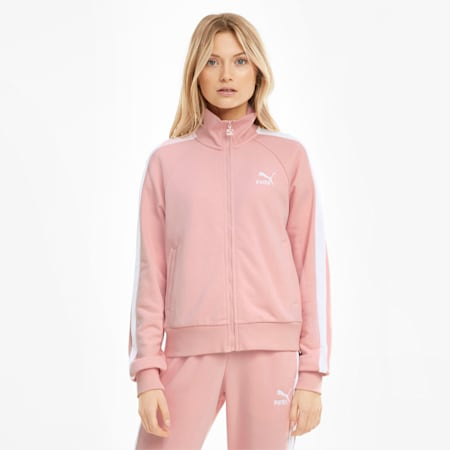 Iconic T7 Women's Track Jacket, Peachskin, small-SEA
