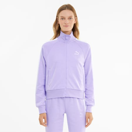 Iconic T7 Women's Track Jacket, Light Lavender, small-GBR