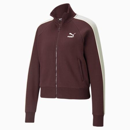 Iconic T7 Women's Track Jacket, Fudge, small-GBR