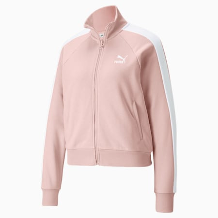 Iconic T7 Women's Track Jacket, Lotus, small-GBR