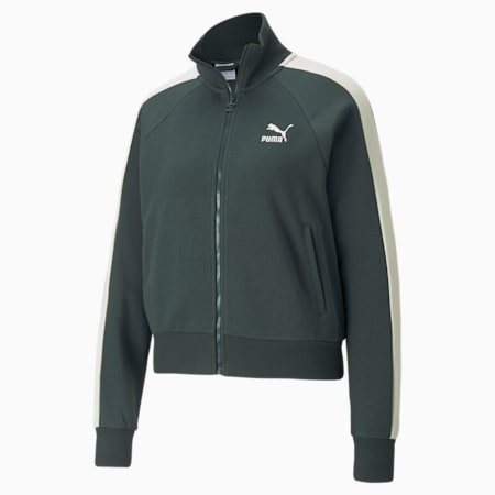 Iconic T7 Women's Track Jacket, Green Gables, small