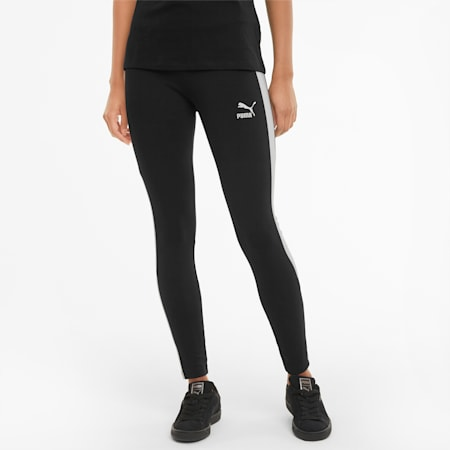 Iconic T7 Mid-Rise Damen Leggings, Puma Black, small