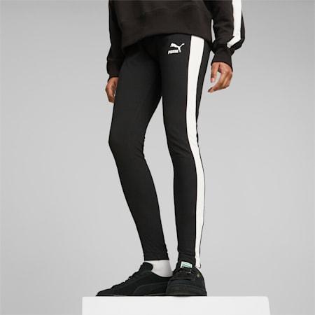 Iconic T7 Mid-Rise Women's Leggings, Puma Black, small-IND