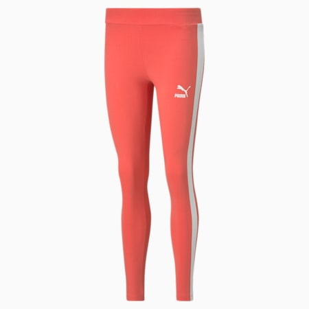 Iconic T7 Women's Leggings, Sun Kissed Coral, small
