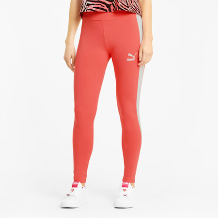 Leggings Iconic T7 donna, Sun Kissed Coral, small