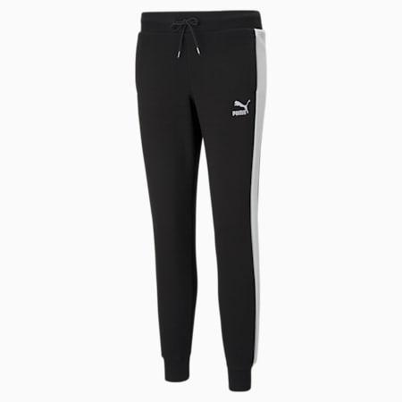 Iconic T7 Regular Fit Women's Slim Track Pants, Puma Black, small-IND