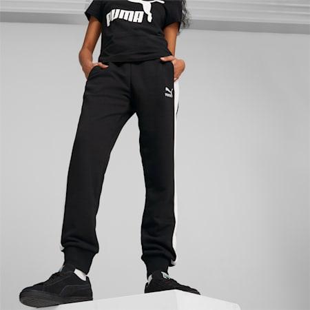 Iconic T7 Women's Track Pants, Puma Black, small-GBR