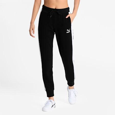 Iconic T7 Women's Slim Track Pants, Puma Black, small-IND
