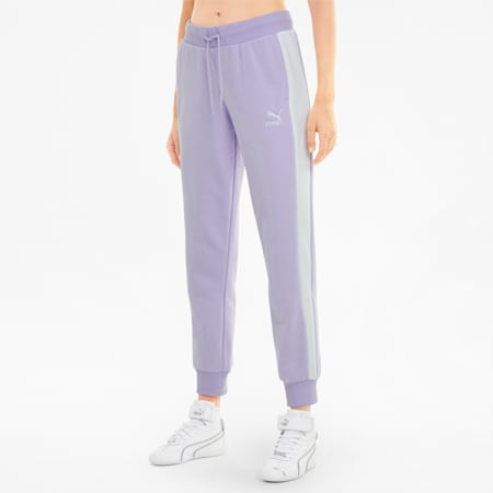 Iconic T7 Women's Track Pants, Light Lavender, small-GBR