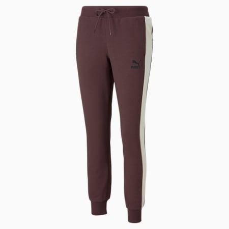 Iconic T7 Women's Track Pants, Fudge, small-GBR