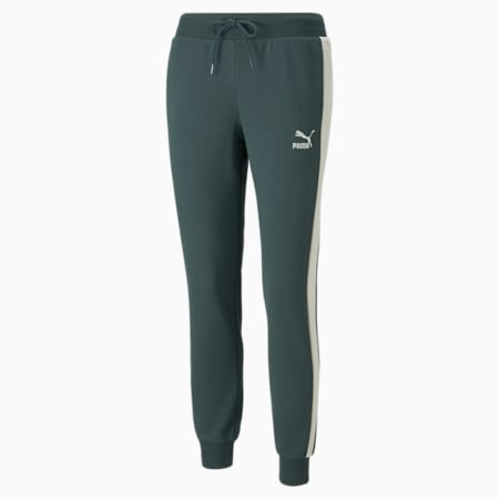 Iconic T7 Women's Track Pants, Green Gables, small-GBR