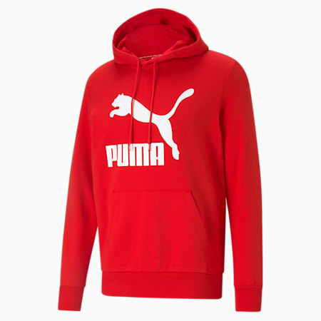 Classics Mens' Logo Hoodie, High Risk Red, small-GBR