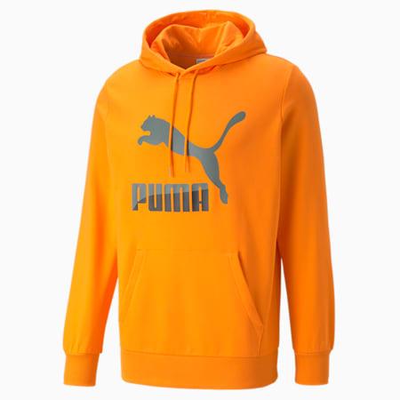 Sudadera con capucha y logo Classics para hombre, Vibrant Orange, pequeño