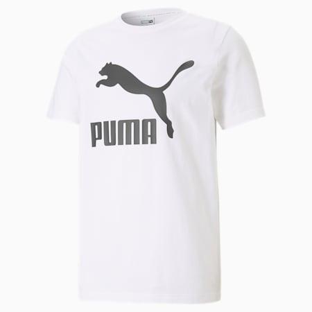 Classics Men's Logo Tee, Puma White, small