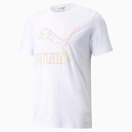 Camiseta Classics con logo para hombre, Puma White-Spectra, pequeño