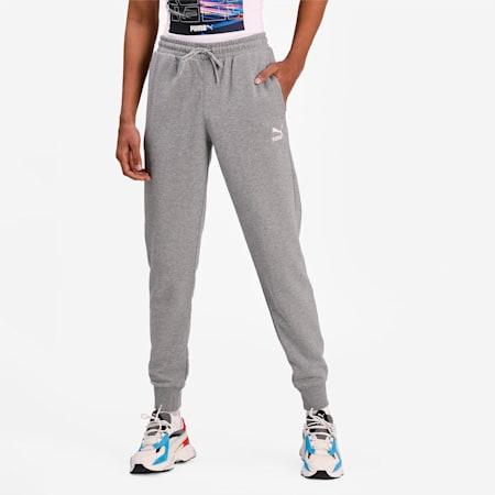 Classics Cuffed Men's Slim Sweat Pants, Medium Gray Heather, small-IND