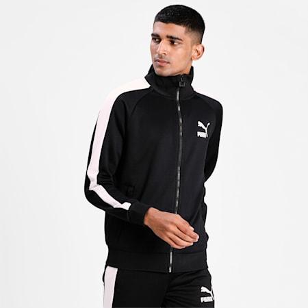 Iconic T7 Regular Fit Men's Track Jacket, Puma Black, small-IND