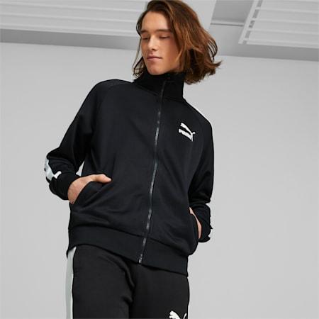 Iconic T7 Men's Track Jacket, Puma Black, small-SEA