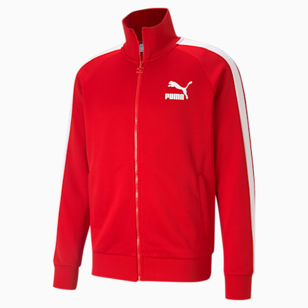Iconic T7 Men's Track Jacket, High Risk Red, small-GBR
