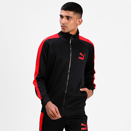 Iconic T7 Men's Track Jacket, Puma Black, small-IND