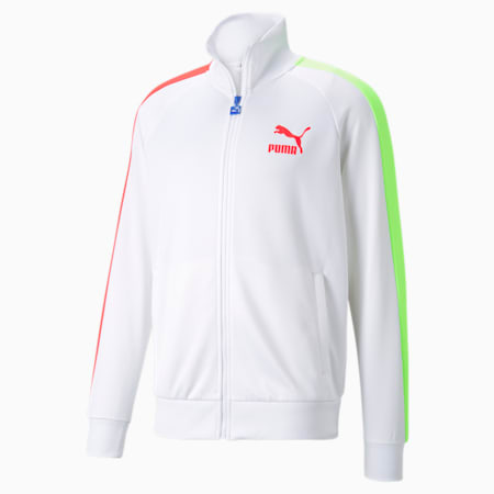 Iconic T7 Regular Fit Men's Track Jacket, Puma White-Spectra, small-IND