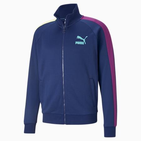 Iconic T7 Regular Fit Men's Track Jacket, Elektro Blue, small-IND