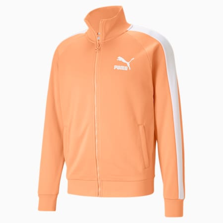 Iconic T7 Men's Track Jacket, Peach Cobbler, small