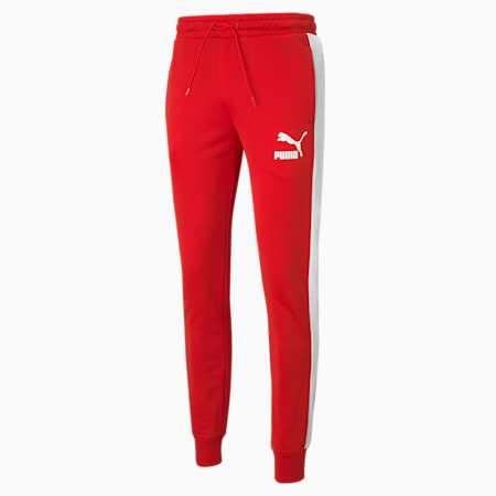 Iconic T7 Men's Track Pants, High Risk Red, small-GBR