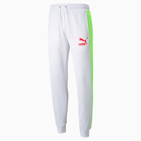 Iconic T7 Men's Track Pants, Puma White-Spectra, small-GBR