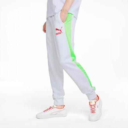 Pantalones deportivos Iconic T7 para hombre, Puma White-Spectra, pequeño