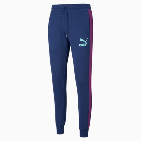 Iconic T7 Men's Track Pants, Elektro Blue, small-IND