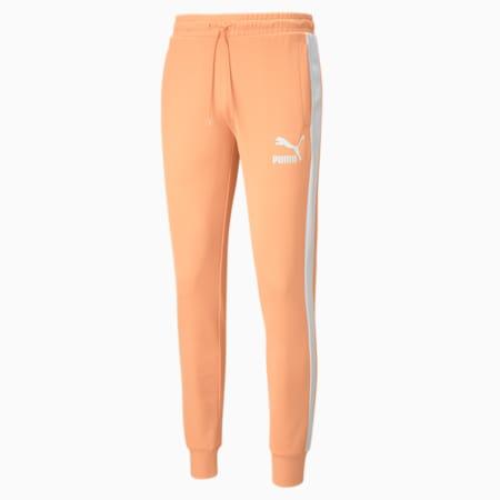 Iconic T7 Men's Track Pants, Peach Cobbler, small
