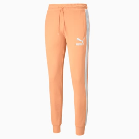 Iconic T7 Men's Track Pants, Peach Cobbler, small-GBR