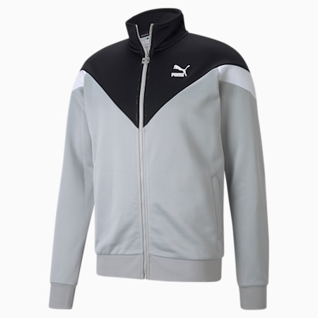 Iconic MCS Men's Track Jacket, Gray Violet, small