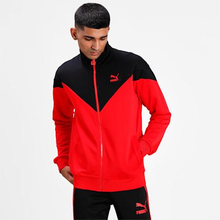 Iconic MCS Men's Track Jacket, High Risk Red, small-IND