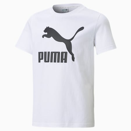 Classics B Youth Tee, Puma White, small